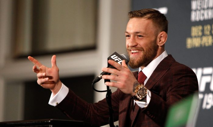 It looks like UFC star Conor McGregor is out of UFC 200 in July. (Steve Marcus/Getty Images)