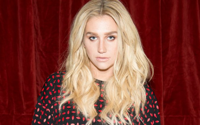 Recording artist Kesha attends the Edie Parker presentation during Mercedes-Benz Fashion Week Fall 2015 on February 13, 2015 in New York City. (Photo by Noam Galai/Getty Images)