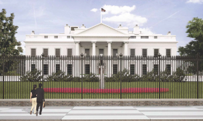 An image from The U.S. Secret Service and National Park Service April 21, 2016, presentation before the Commission of Fine Arts (CFA) on preliminary concepts for a new White House fence. (The U.S. Secret Service/National Park Service)