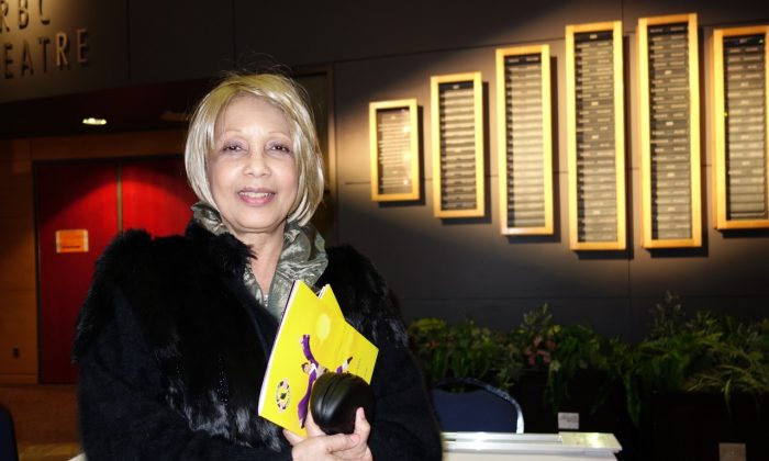 Author and poet Marlene Koiter reflected on the deeper elements of Shen Yun after attending the final Mississauga performance on Thursday night, April 28, 2016, at the Living Arts Centre. (Matthew Little/Epoch Times)