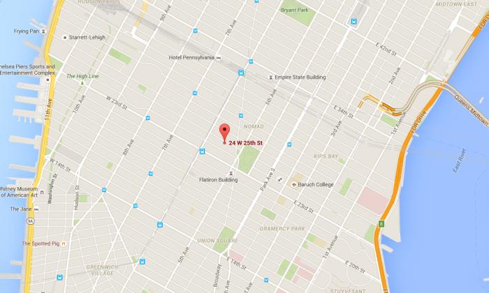 24 West 25th Stree, Manhattan, N.Y. (Screenshot of Google Maps)