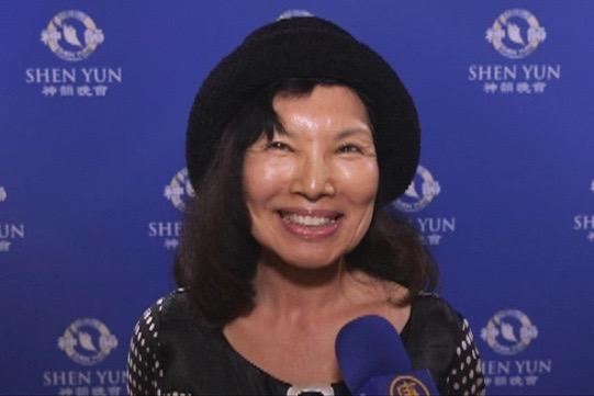 Sunny Jun, former professor at UC Santa Barbara after watching Shen Yun Performing Arts, at the Granada Theatre in Santa Barbara, on the afternoon of April 30, 2016. (Michael Ye/Epoch Times)