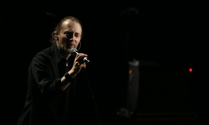 British singer and leader of Radiohead, Thom Yorke performs on the stage of the Trianon in Paris, on Dec. 4, 2015. (Martin Bureau/AFP/Getty Images)