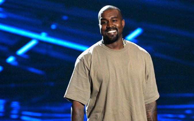 Vanguard Award winner Kanye West speaks onstage during the 2015 MTV Video Music Awards at Microsoft Theater on August 30, 2015 in Los Angeles, California. (Photo by Kevork Djansezian/Getty Images)