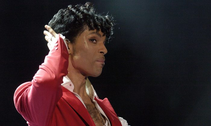 Prince performs at the 10th Anniversary Essence Music Festival at the Superdome on July 2, 2004 in New Orleans, Louisiana.  (Chris Graythen/Getty Images)