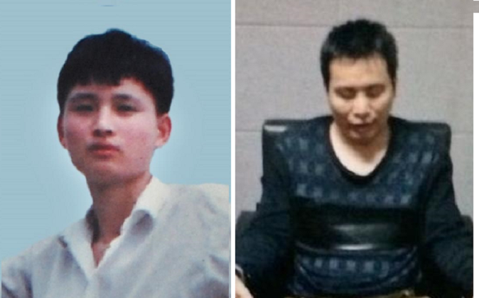Yang Zhonggeng as a young man (L) and his younger brother Yang Zhongsheng were both tortured tod eath by Chinese police for refusing to give up their practice of Falun Gong. (Minghui)