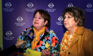 Sisters Transported by Shen Yun: 'I feel sad to leave the theatre'