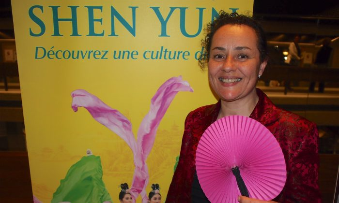 Sandrine Thibout, a culture and education specialist at the Charlevois Museum in Quebec, enjoyed Shen Yun's presentation of traditional Chinese culture at the Grand Théâtre de Québec in Quebec City on May 3, 2016. (Nathalie Dieul/Epoch Times)