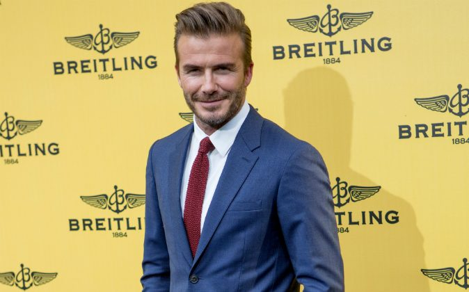 David Beckham attends the opening event of the Breitling Boutique on June 3, 2015 in Madrid, Spain. (Photo by Pablo Cuadra/Getty Images)