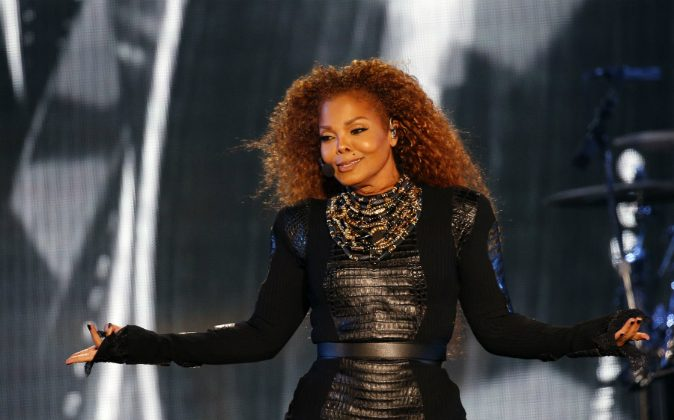 US singer Janet Jackson performs during the Dubai World Cup horse racing event on March 26, 2016 at the Meydan racecourse in the United Arab Emirate of Dubai. (KARIM SAHIB/AFP/Getty Images)