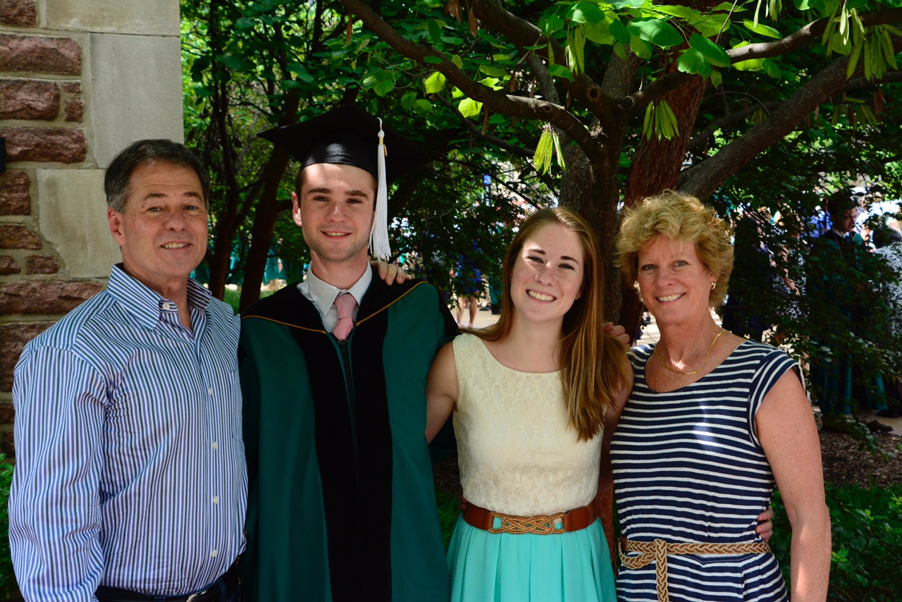 M.J. Marggraff and her family in 2015 at her son's graduation. (Courtesy of M.J. Marggraff)