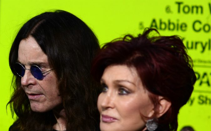 Ozzy Osbourne and Sharon Osbourne arrive at the premiere of CBS Films' 'Seven Psychopaths' at Mann Bruin Theatre on October 1, 2012 in Westwood, California. (JOE KLAMAR/AFP/GettyImages)