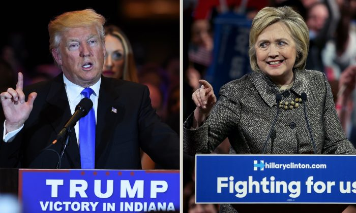 US Republican presidential candidate Donald Trump speaks in New York on May 3, 2016, following the primary in Indiana. Republican Party chief Reince Priebus declared Tuesday that Donald Trump will be the presumptive Republican presidential nominee, after his main rival Ted Cruz dropped out of the race.(JEWEL SAMAD/AFP/Getty Images)