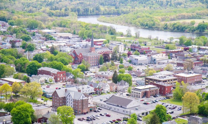 The City of Port Jervis from Point Peter in Elks Brox Park on May 11, 2016. (Holly Kellum/Epoch Times)