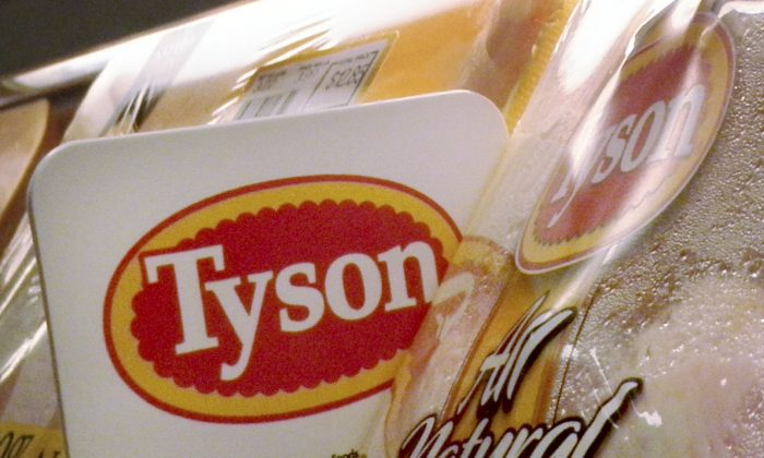 Tyson Foods chicken products on the shelves of a Little Rock, Ark., in this file photo. (AP Photo/Danny Johnston, file)