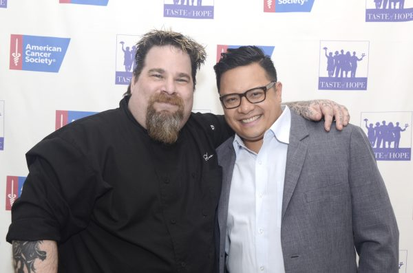 Chef Eric LeVine (left) and Dale Talde. (Courtesy of American Cancer Society)
