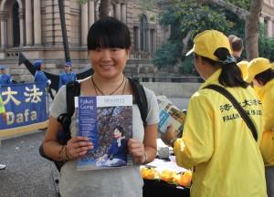 Misaki Ohashi, a Japanese university student from Macquarie University, May 7, 2016. (Epoch Times)