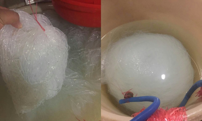 Fake shredded jellyfish confiscated by police. (via Huzhou Police)