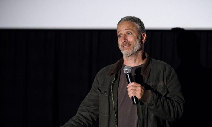 Jon Stewart attends the Montclair Film Festival 2016 on May 7, 2016 in Montclair City.  (Photo by Dave Kotinsky/Getty Images for Montclair Film Festival)