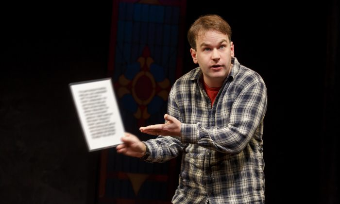 "Mike Birbiglia's one-person effort, ""Thank God for Jokes,"" is running at the Lynn Redgrave Theater. (Joan Marcus)"