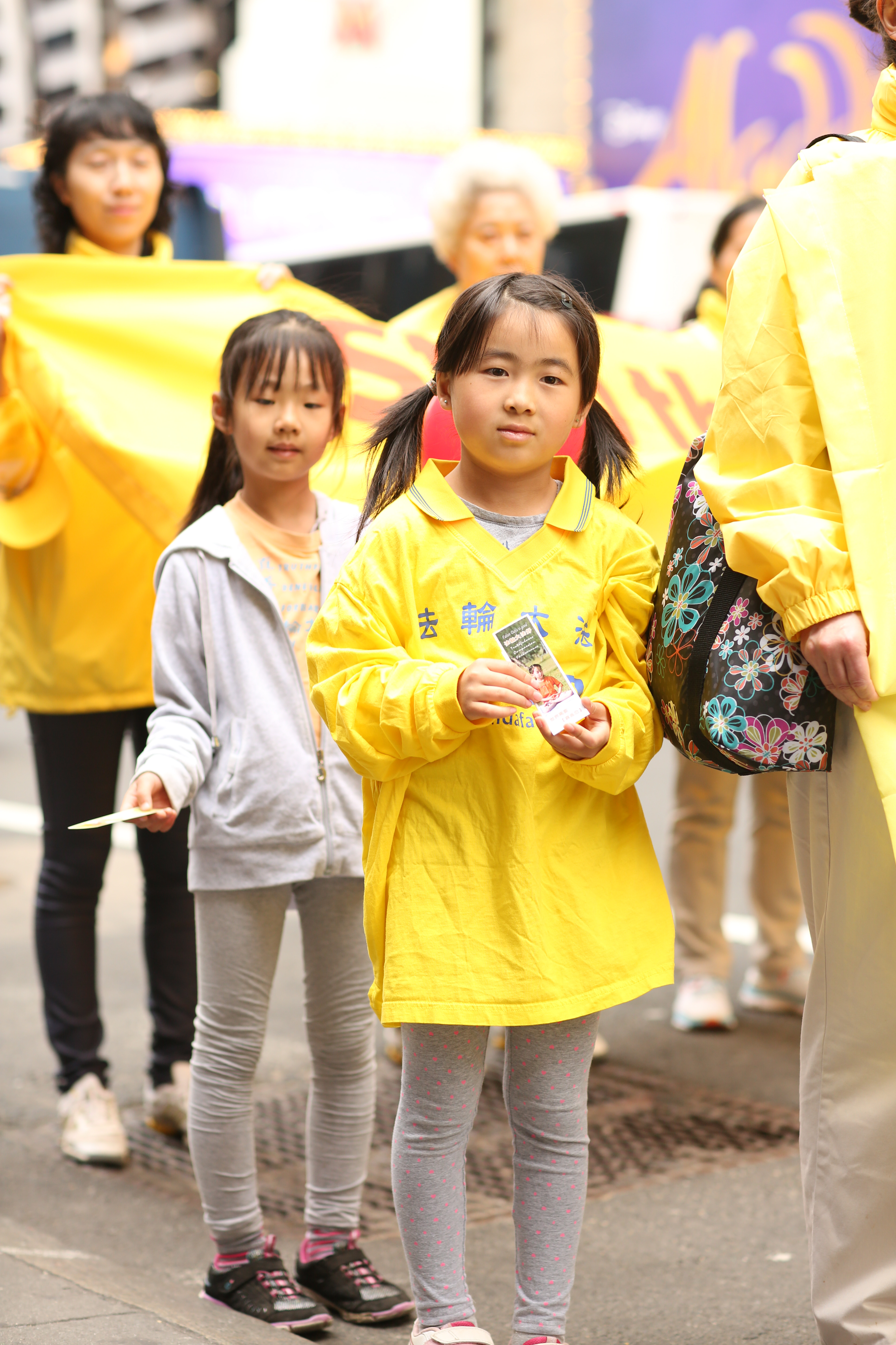 Around 10,000 Falun Gong practitioners march in the World Falun Dafa parade in New York on May 13, 2016. (Benjamin Chasteen/Epoch Times)