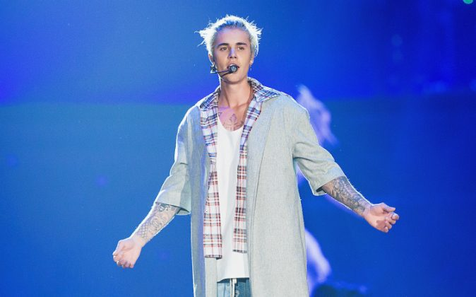 Justin Bieber performs on stage during opening night of the 'Purpose World Tour' at KeyArena on March 9, 2016 in Seattle, Washington. (Mat Hayward/Getty Images)