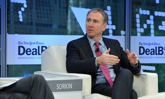 Founder and CEO of Citadel LLC, Kenneth C. Griffin participate in a discussion at the New York Times 2013 DealBook Conference in New York on November 12, 2013 in New York City.  (Larry Busacca/Getty Images)