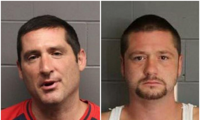 Scott Leader (L) and Steven Leader were sentenced on May 17 for a hate crime after beating a Hispanic man last August. The pair claim the attack was inspired by rhetoric of Donald Trump's.(Suffolk County District Attorney's Office)
