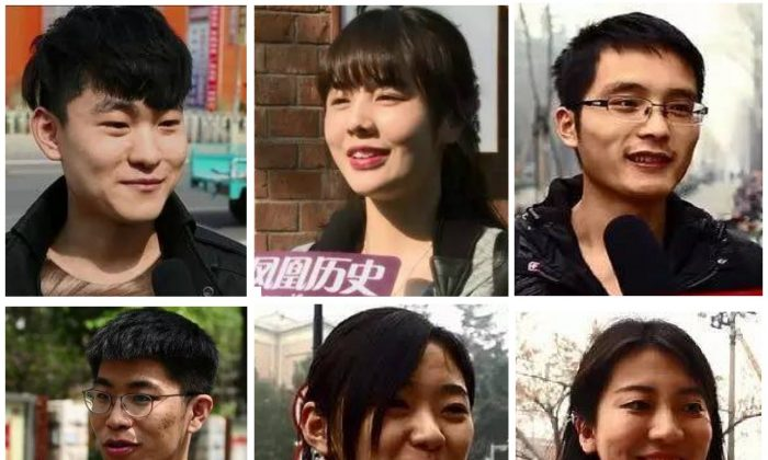 Young people interviewed by China's Phoenix Television. (via Phoenix Telelvision)