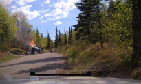 Video: Police Officer, Bystanders Save Man From Fiery SUV Crash in Alaska