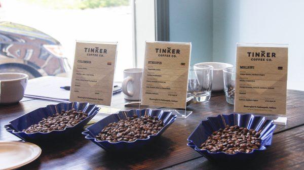 Single-origin coffee beans roasted by Tinker Coffee. (Annie Wu/Epoch Times)