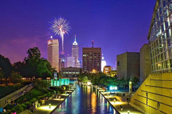 The Indianapolis skyline, seen from the canal in White River State Park. (Carl Van Rooy Photography)