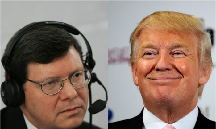 Wisconsin radio host Charlie Sykes and Donald Trump (MANDEL NGAN/AFP/Getty Images) (Photo by David Becker/Getty Images)