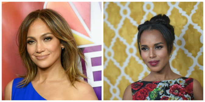 Jennifer Lopez (Angela Weiss/Getty Images) Kerry Washington (Jason Kempin/Getty Images)