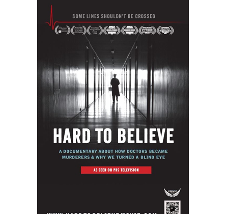 Poster that publicizes the Ken Stone  Hard to Believe to be shown at the Hoboken Film Festival on June 4, 2016. (courtesy hardtobelievemove.com)