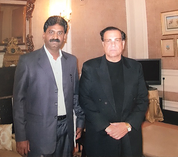 Pervez Rafique (L) with former Punjab Governor Mr. Salman Taseer in the Governor's House in Lahore in March 2009. (Courtesy of Pervez Rafique)