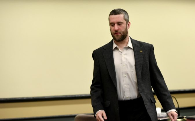 Dustin Diamond attends his arraignment at Ozaukee County Courthouse on January 22, 2015 in Port Washington, Wisconsin. (Daniel Boczarski/Getty Images)