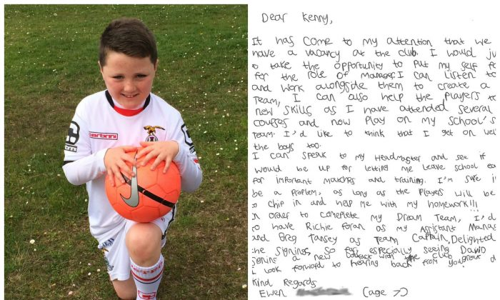 Ewan MacKenzie applied for the manager position at his local soccer team.