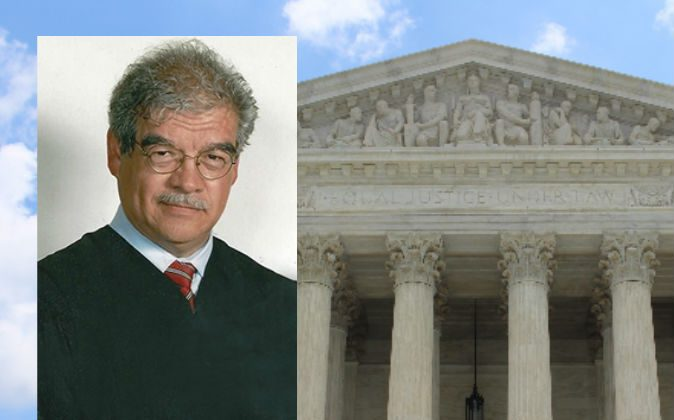 Retired Judge Manuel Barbosa (Courtesy of Manuel Barbosa) Background: (Claire Anderson/Unsplash/Public Domain)