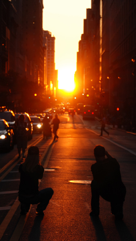 Manhattanhenge on May 31, 2009. (Haldean Brown/CC BY-SA 2.0)