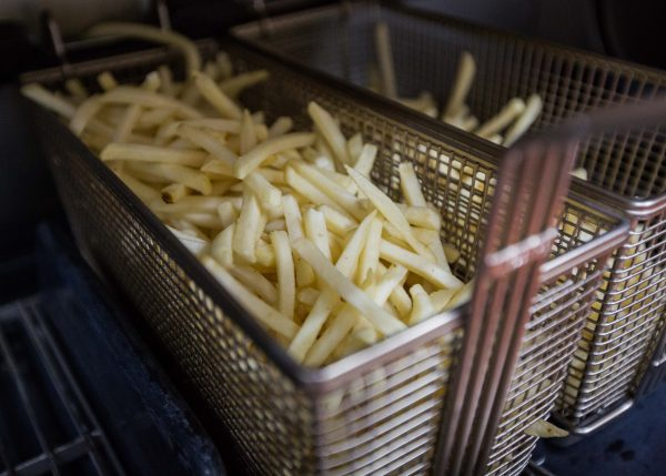 A basket of french fries is seen in the kitchen at a McDonald's in Tokyo, Japan, on Jan. 25, 2016. (Christopher Jue/Getty Images)