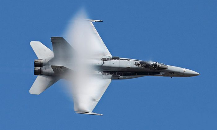 The Navy's F-18 Hornet aircraft which will be performing at the NY Air Show on Labor Day weekend. (courtesy NY Air Show)