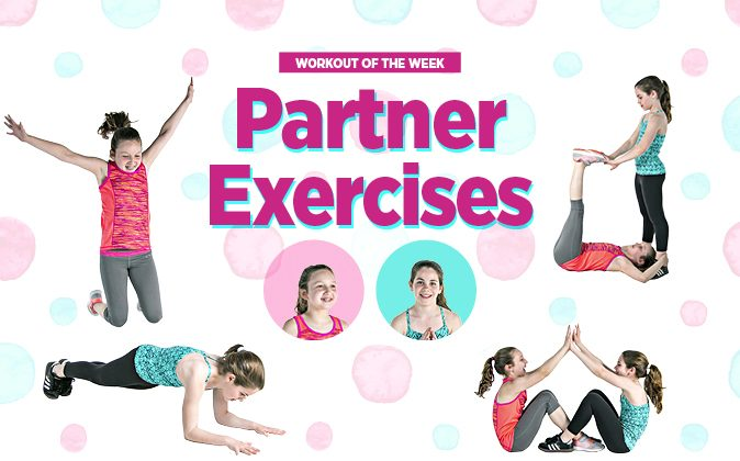 partner exercises show kids why its cool to move - Exercise Pictures For Kids