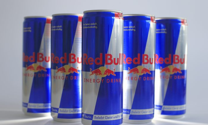 Austrian beverage energy drink cans of Red Bull are pictured in Vienna on March 16, 2013. (ALEXANDER KLEIN/AFP/Getty Images)