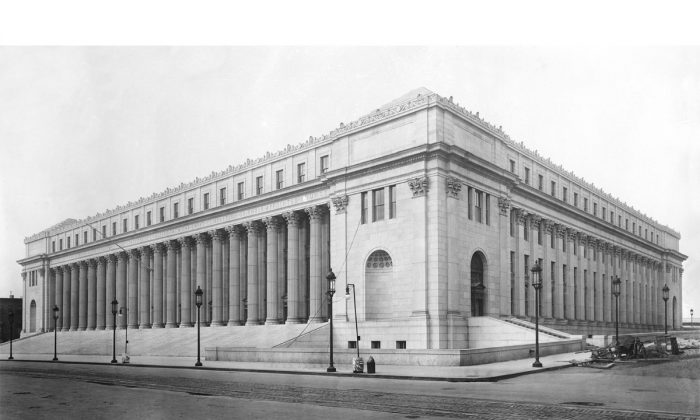 The James A. Farley Post Office Building is the main U.S. Postal Service building in New York City. (Public Domain)