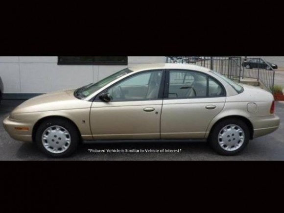 The suspect in the missing persons case of 15-year-old Pearl Pinson, Fernando Castro, was last seen driving this gold Saturn. The Solano County Sheriff's Office is asking businesses to check their surveillance footage from 7-9am on May 25. (Solano County Sheriff's Office photo)