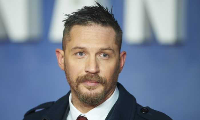 British actor Tom Hardy poses on arrival for the premiere of the film 'The Revenant' in London on January 14, 2016.  (Niklas Halle'n/AFP/Getty Images)