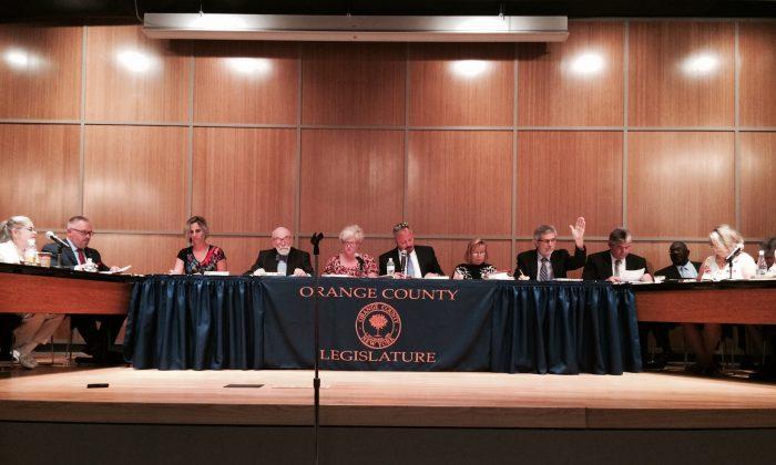 The Orange County Legislature meeting in Goshen on June 3, 2016. (Holly Kellum/Epoch Times)
