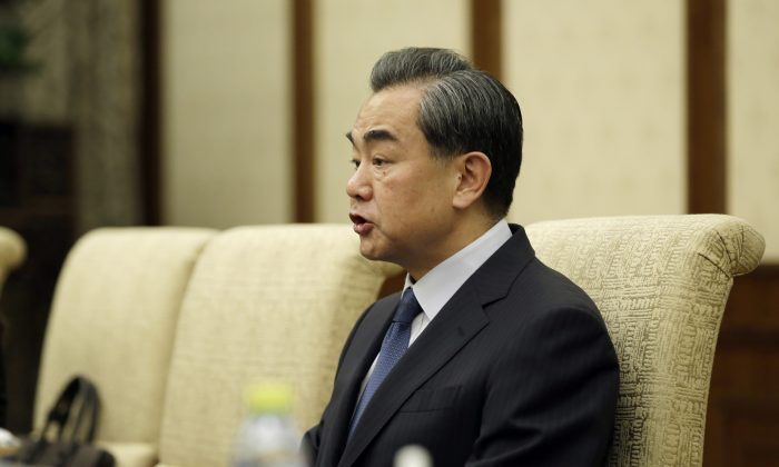 File photo of China's Foreign Minister Wang Yi in Beijing on April 30, 2016. (Jason Lee/AFP/Getty Images)
