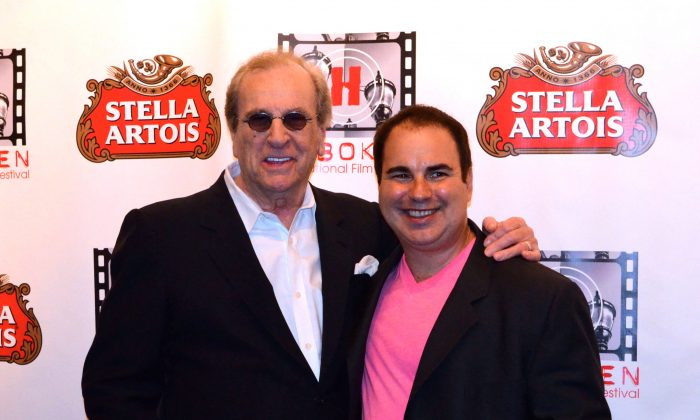 Danny Aiello, honoree at the Hoboken International Film Festival, with Ken DelVecchio at opening night in Middletown on June 3, 2016. (Yvonne Marcotte/Epoch Times)